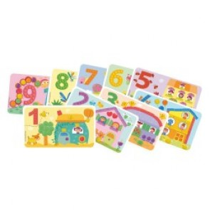 PlayMais® Card Set Fun to Learn Numbers, 14 Karten